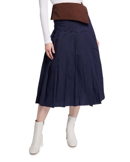 2 Moncler 1952 Pleated Skirt