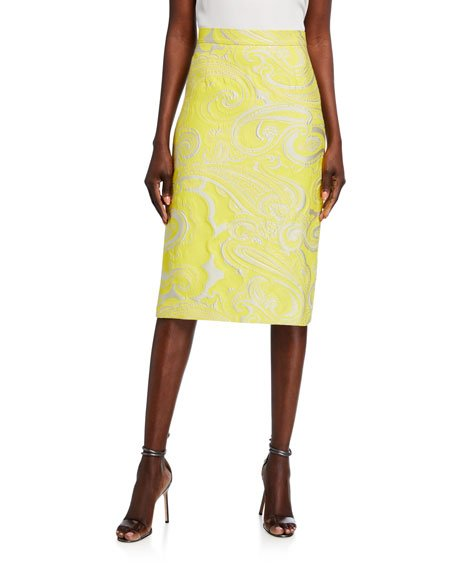 Randuxi Paisley Pencil Skirt
