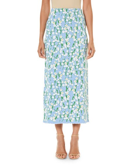 Jacquard Ankle-Length Skirt