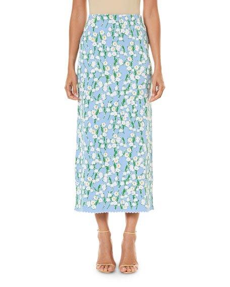 Jacquard Ankle-Length Skirt