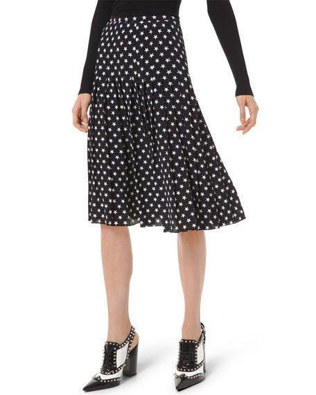 Stars Pleated Skirt