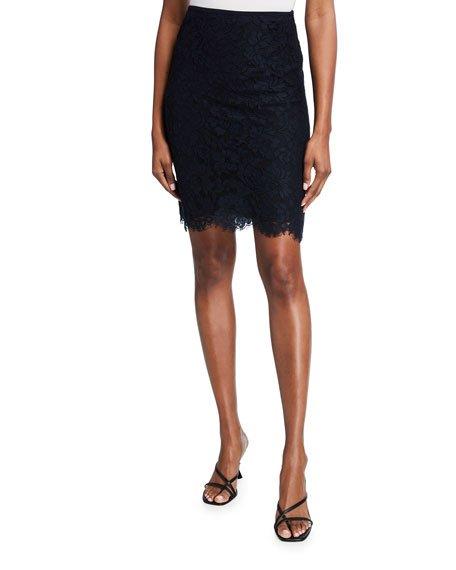 Rav Floral Lace Pencil Skirt