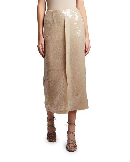Nobel Sequined Skirt