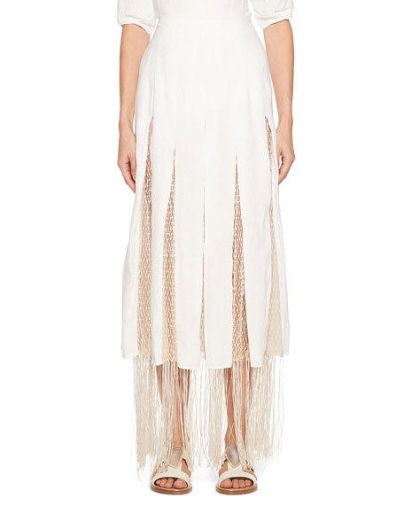 Harmonia Skirt with Silk Macrame