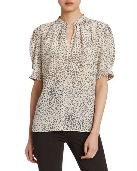 Animal-Print Golden Chain Tunic