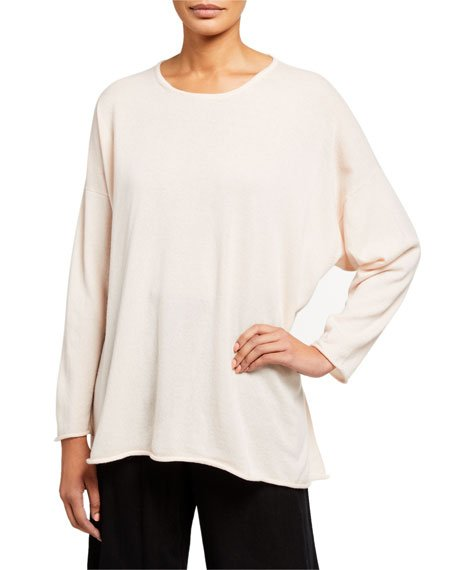 Cashmere A-Line Boat-Neck Sweater