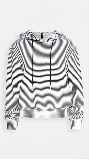 Stripe Crop Hoodie