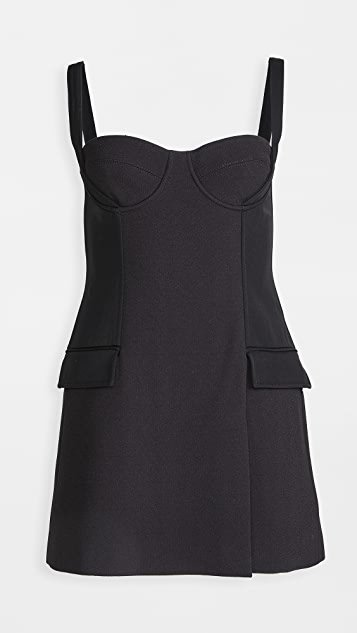 Belted Strap Bustier Mini Dress