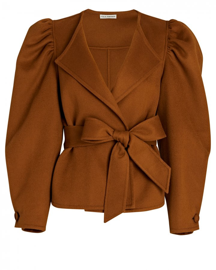 Maxine Puff Sleeve Wool Jacket