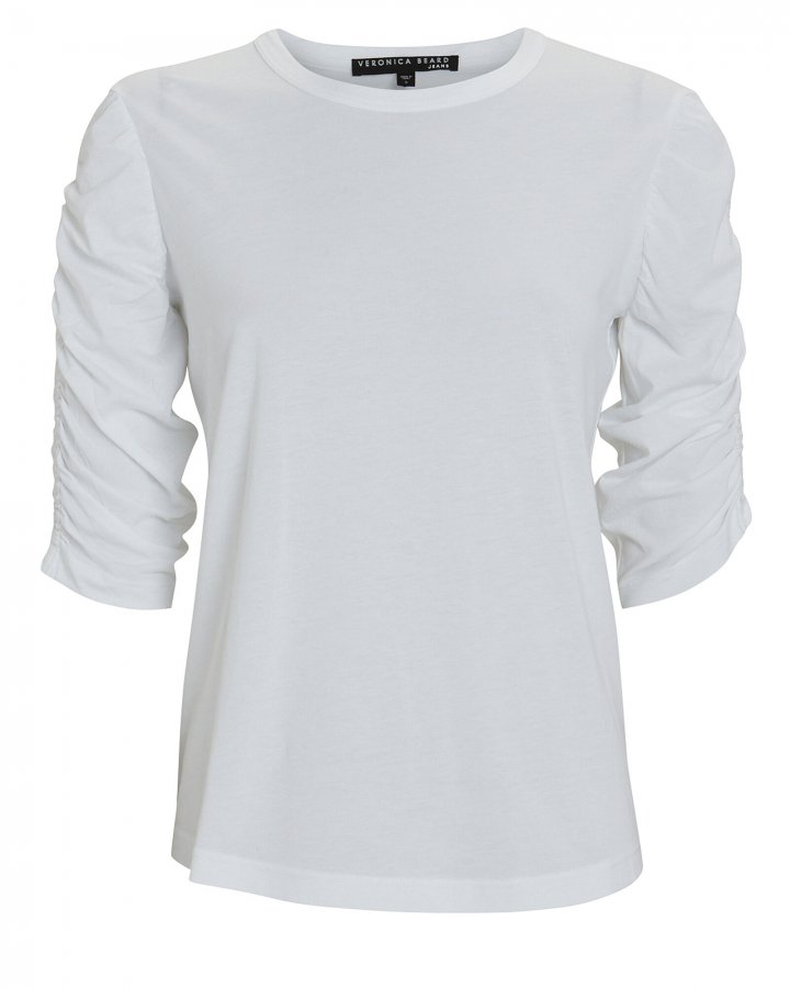 Waldorf Ruched Cotton T-Shirt