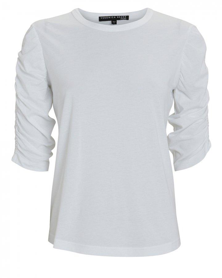 Waldorf Ruched Cotton T-Shirt