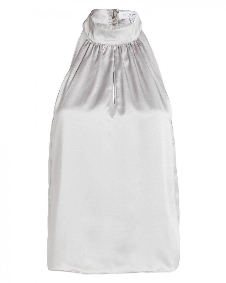 Dina Sleeveless Silk Top