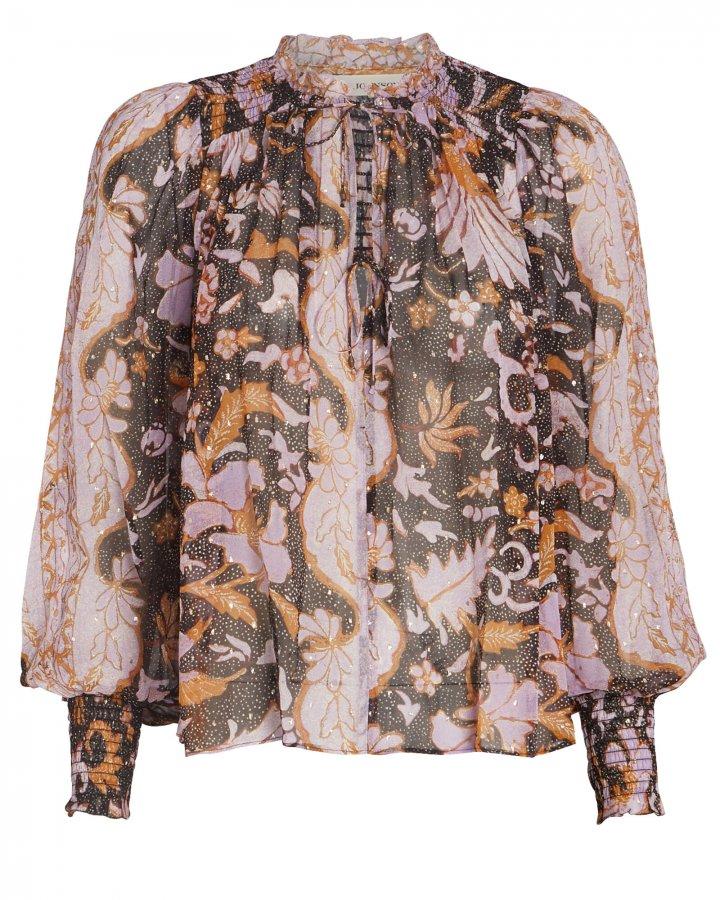 Anita Floral Silk Blouse