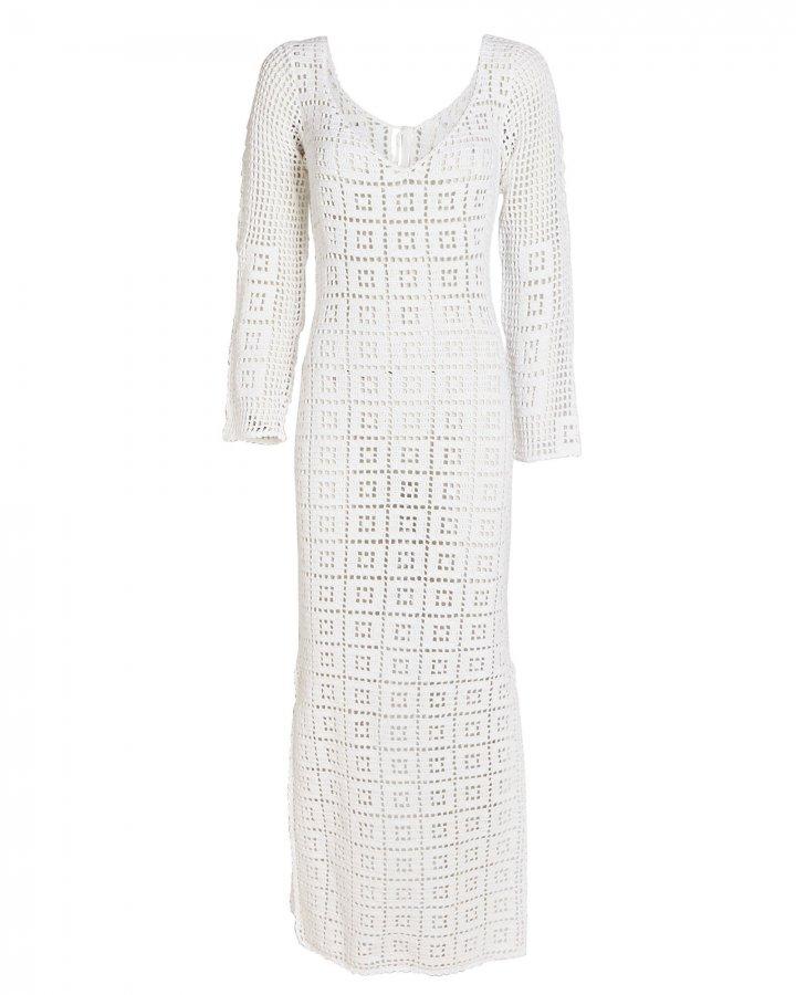 Aria Crochet Cotton Midi Dress