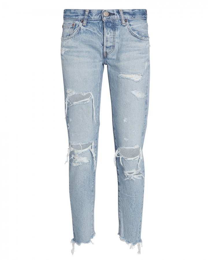 Creston Distressed Tapered Jeans