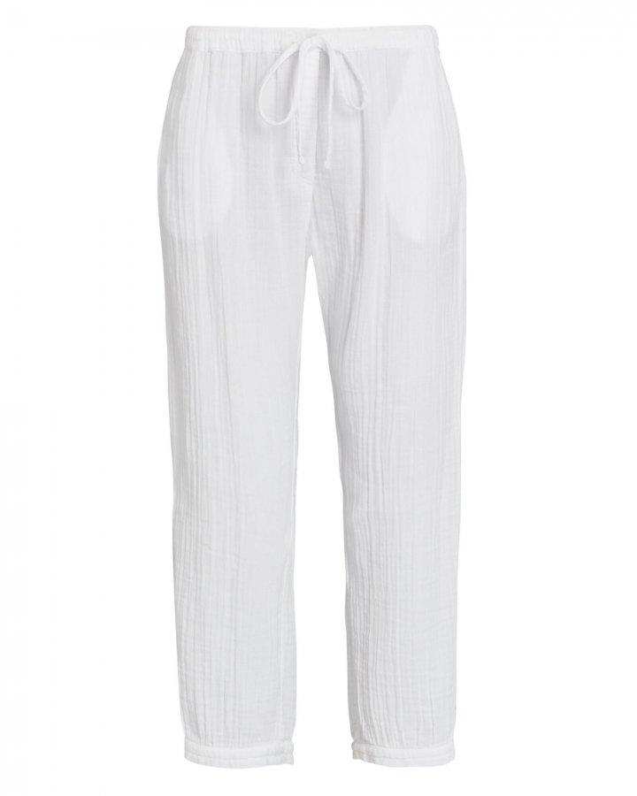 Jak Cropped Cotton Gauze Pants
