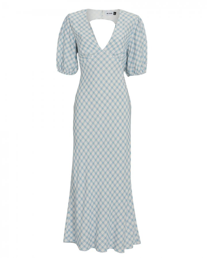 Steph Checked Crepe Midi Dress