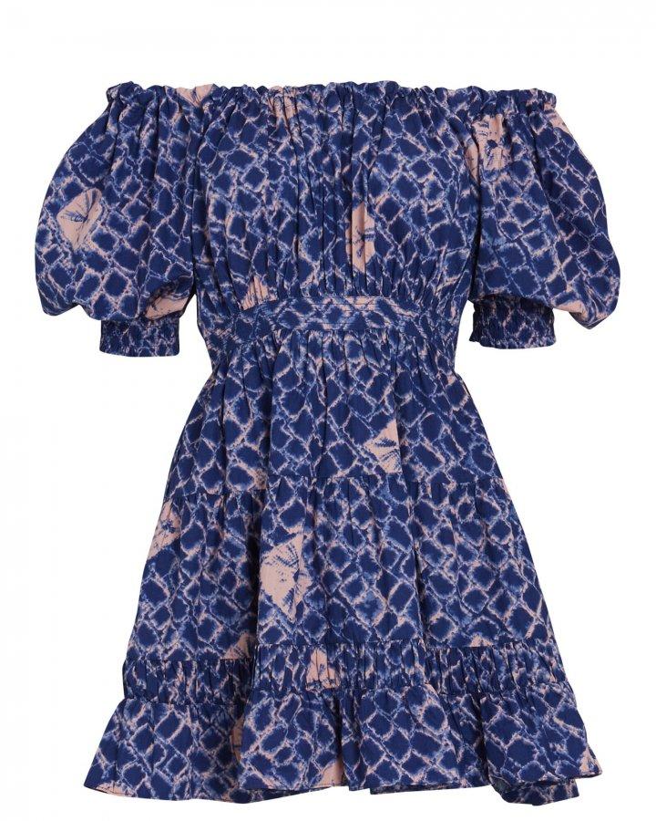 Celia Batik Off-the-Shoulder Dress