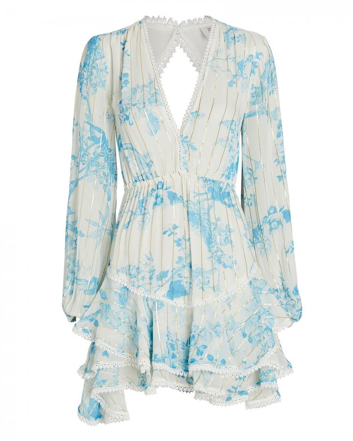Brie Floral Chiffon Mini Dress