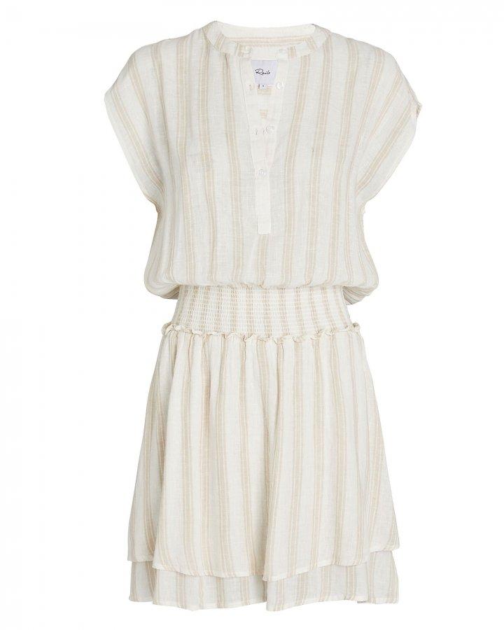 Angelina Smocked Stripe Mini Dress