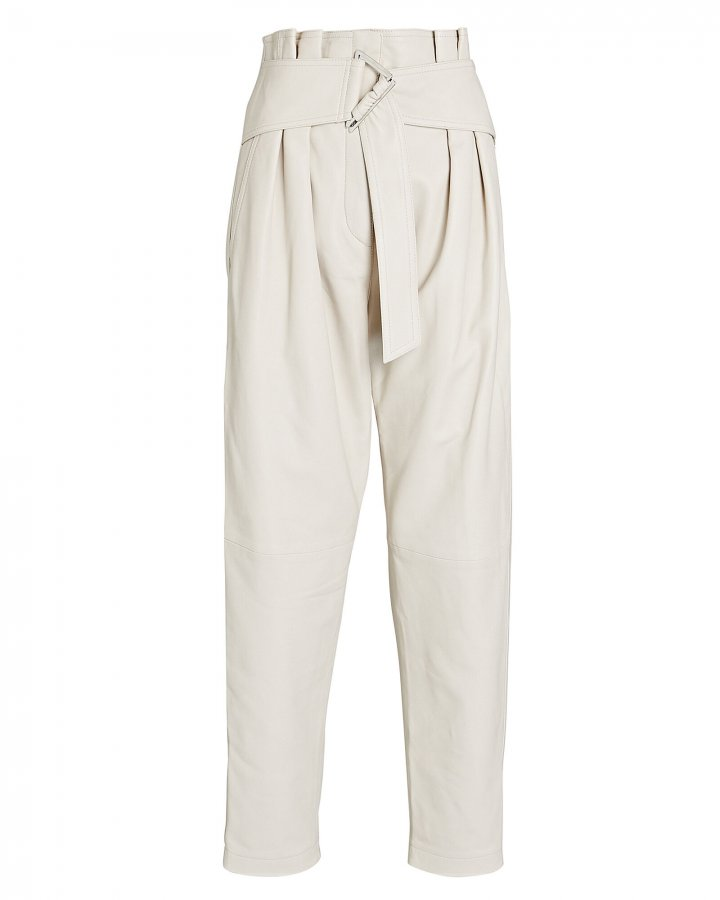 Husvik Leather Paperbag Pants
