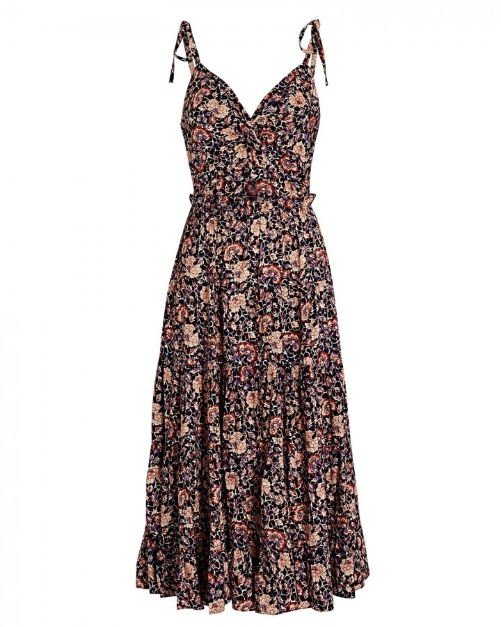 Kali Floral Cotton Midi Dress