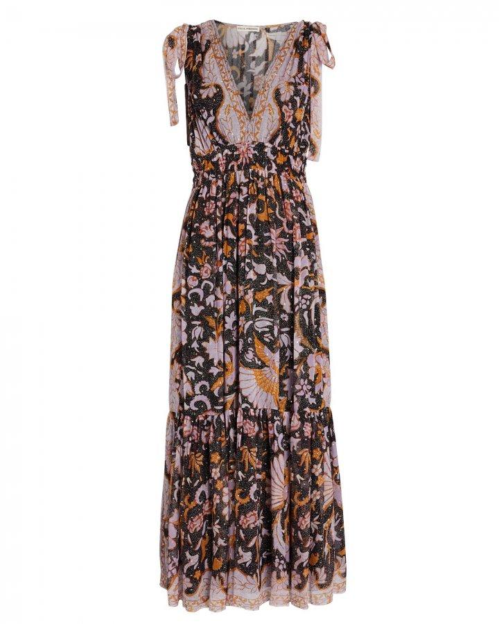 Annalise Floral Silk Maxi Dress