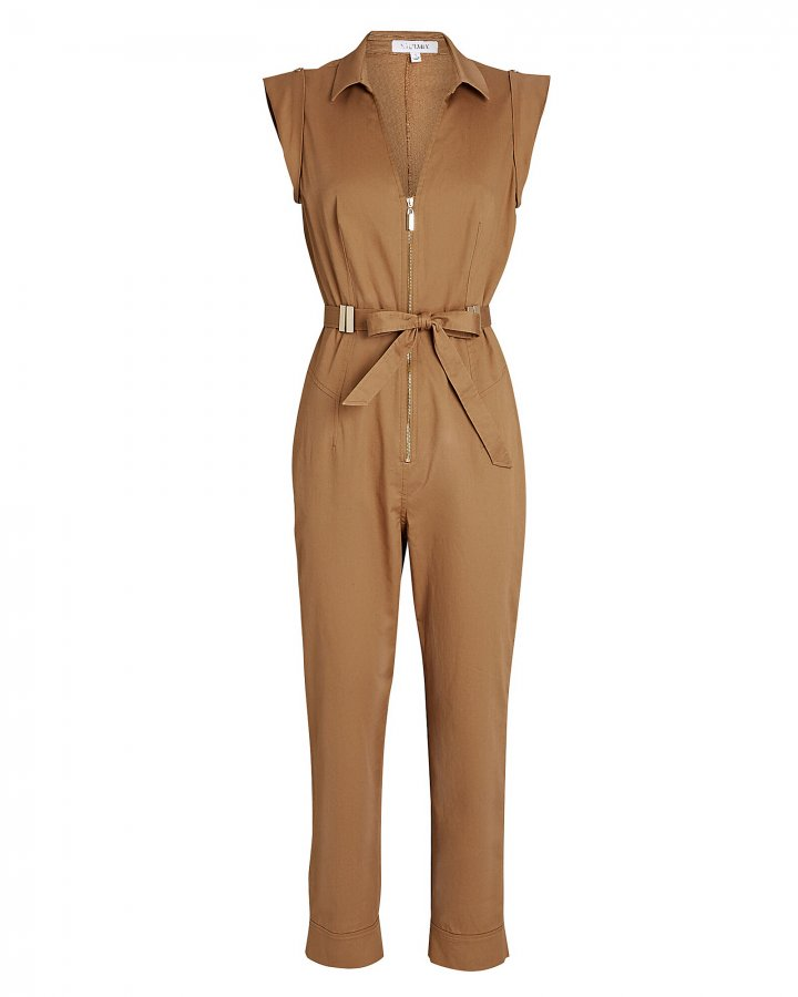 Ariel Belted Cotton Jumpsuit