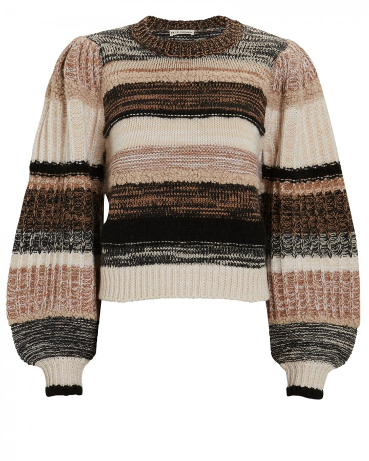 Samara Striped Blouson Sleeve Sweater
