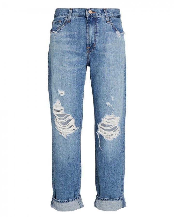 Tate Distressed Boyfriend Jeans