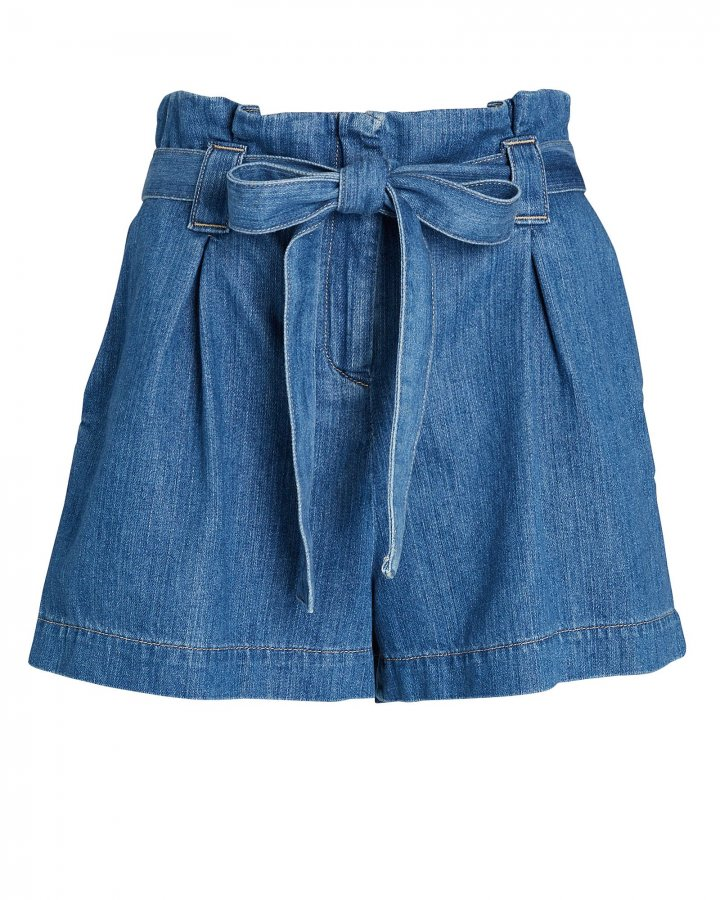 Hillary Paperbag Denim Shorts