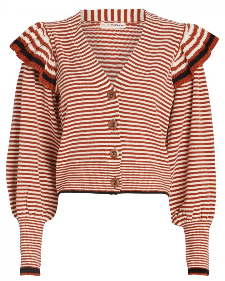 Rooney Striped Frill Cardigan