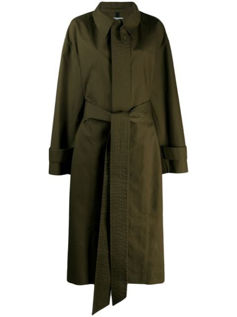AMI Oversized Belted Trench Coat