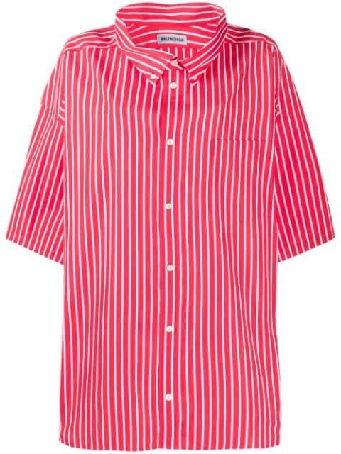 Balenciaga logo-print Oversized Shirt