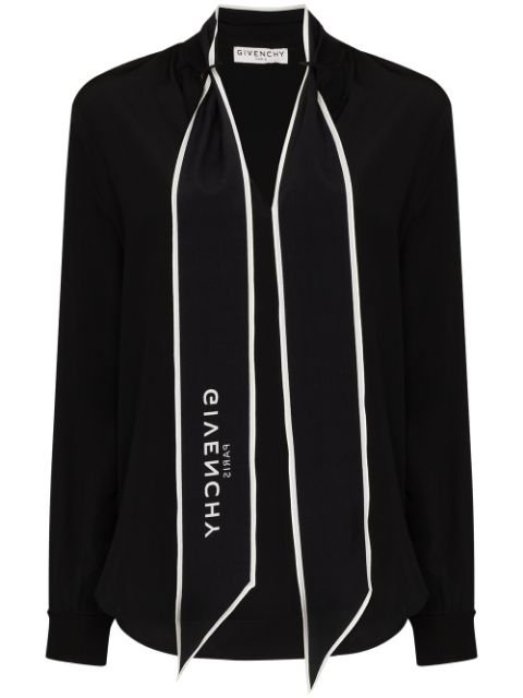 Givenchy Logo Scarf Blouse