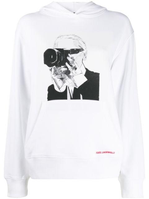 Karl Lagerfeld Karl Legend Hoodie Aw19 | Farfetch.com