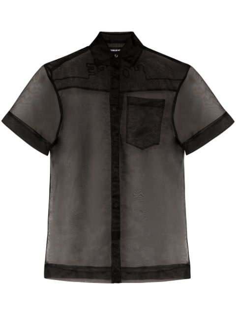 House Of Holland semi-sheer Shirt