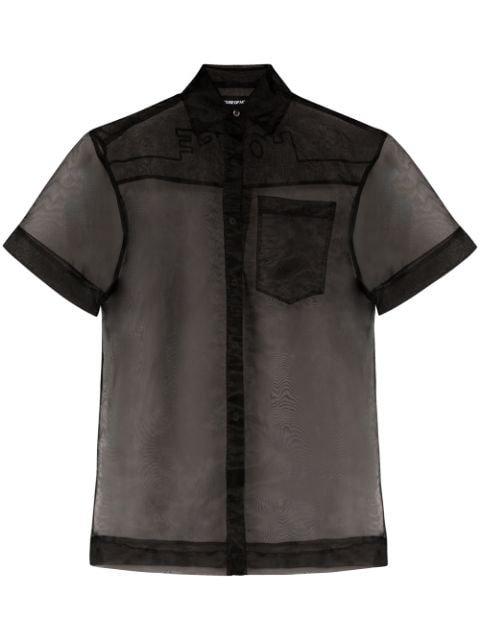 House Of Holland semi-sheer Shirt