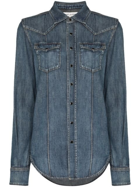 Saint Laurent Denim Western Shirt