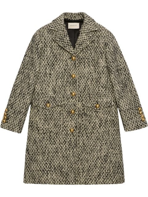Gucci Tweed single-breasted Coat