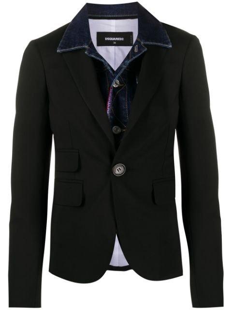 Dsquared2 double-layered Denim Jacket Blazer