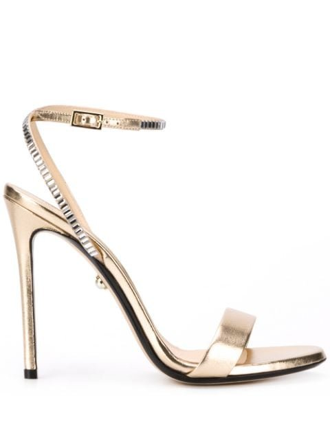 Alevì Metallic 120Mm Open Toe Sandals Ss20 | Farfetch.com