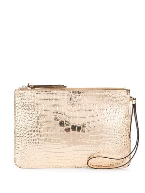 Jimmy Choo Fara crocodile-effect Clutch
