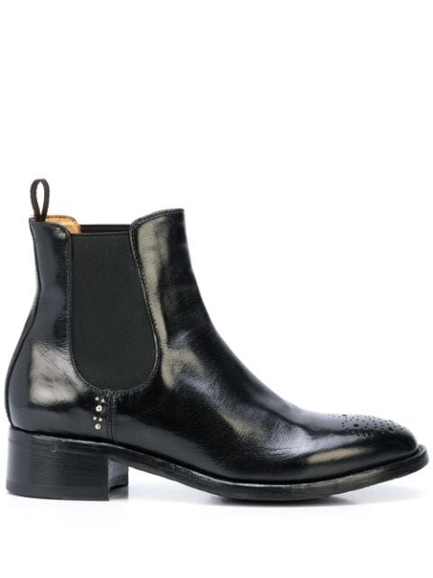 Officine Creative Punch Hole Ankle Boots Ss20 | Farfetch.com