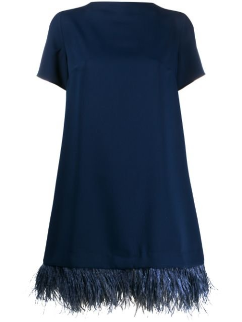 P.a.r.o.s.h. Feather Trim Dress Ss20 | Farfetch.com