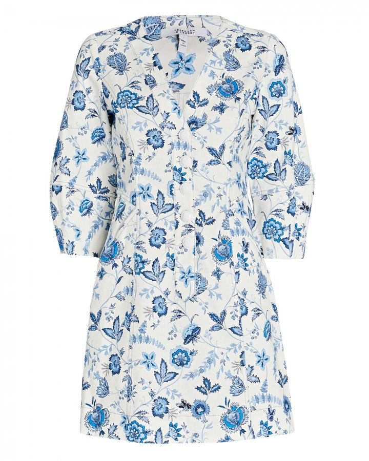 Ottilie Floral Cotton Mini Dress