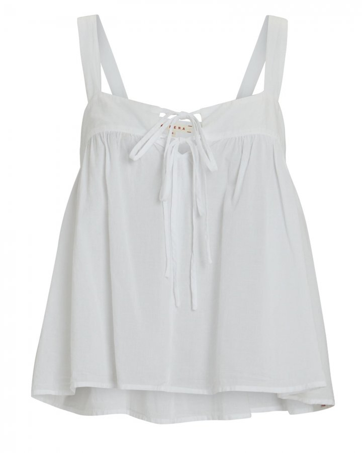 Kyra Sleeveless Cotton Poplin Top