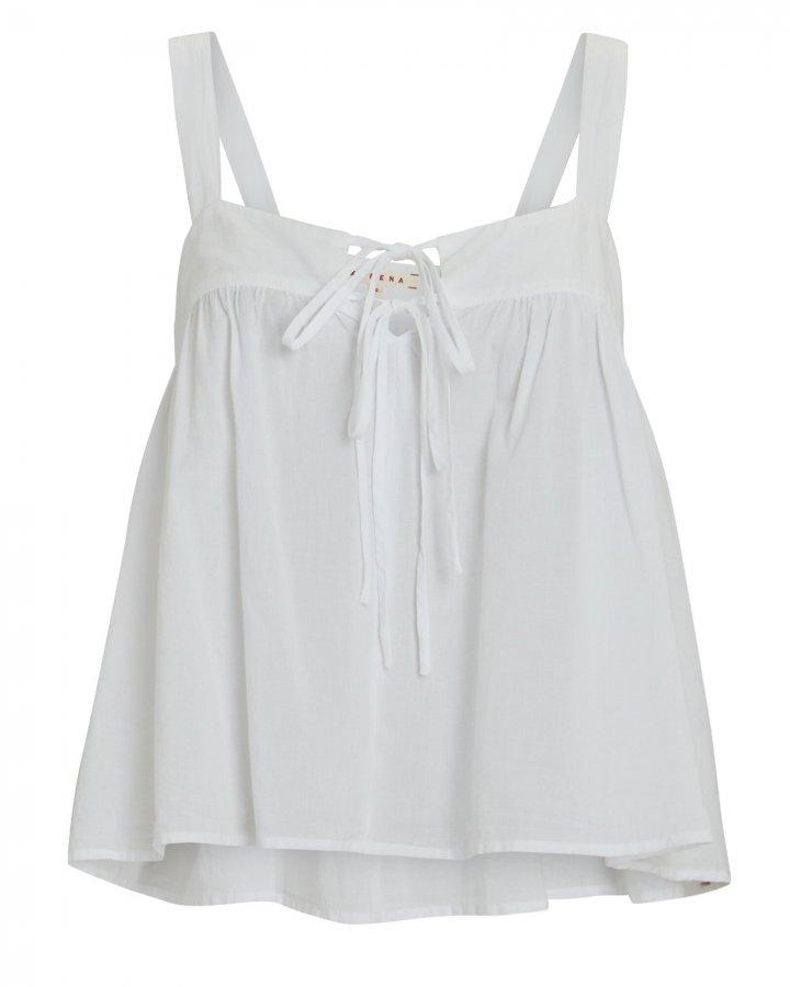 Kyra Sleeveless Cotton Poplin Top
