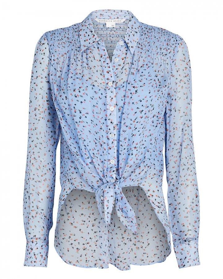 Dazed Silk Floral Button-Down Shirt