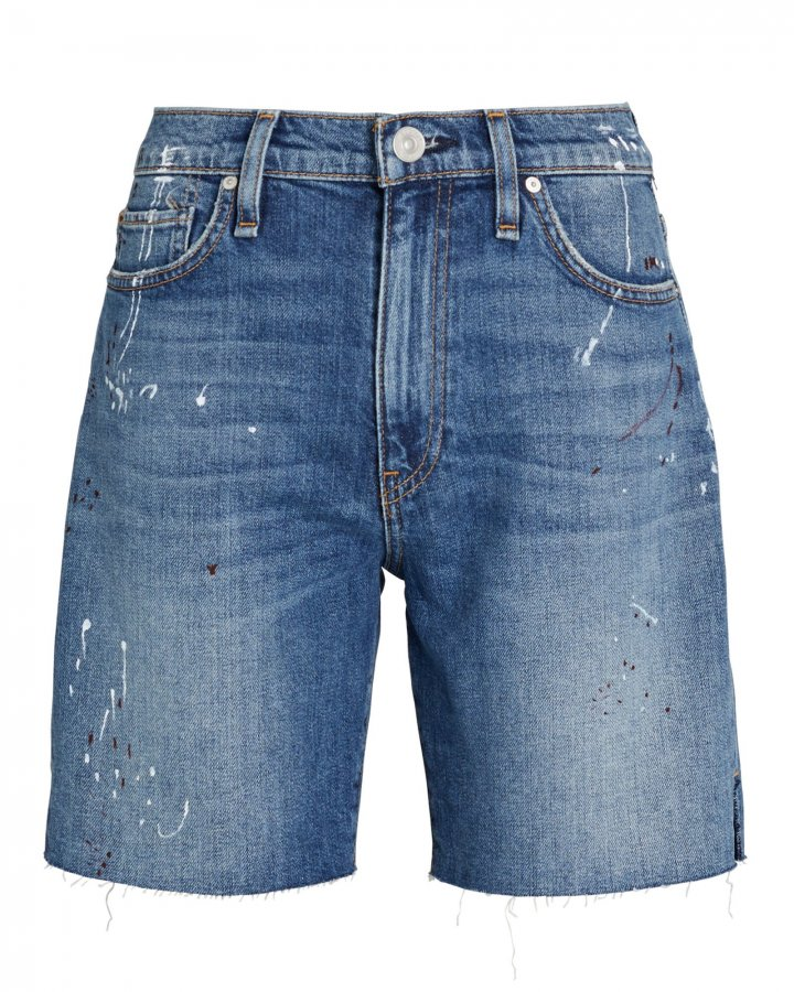 Hana Denim Biker Shorts